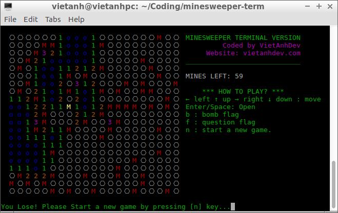 Minesweeper by VietAnhDev
