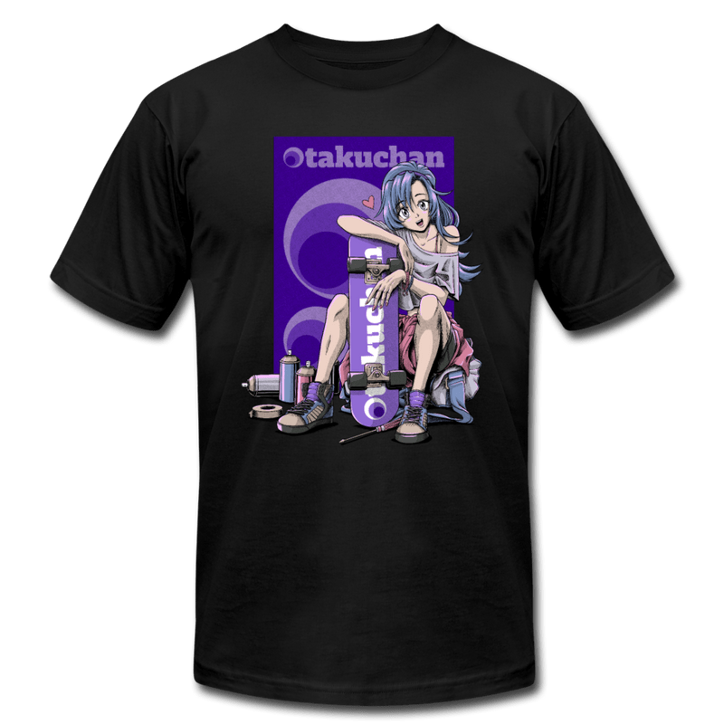 Otakuchan Unisex Black T-Shirt - black