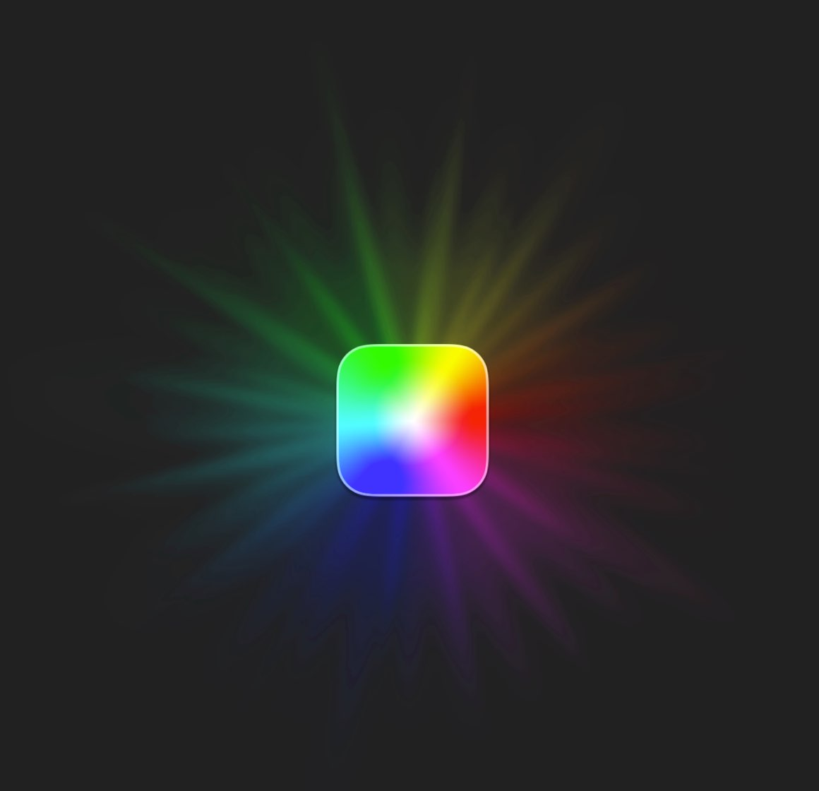 Lights app icon with light rays, as used in loading animation