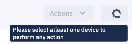 Actions Message