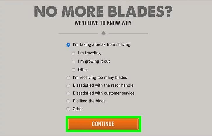 Dollar shave club blades