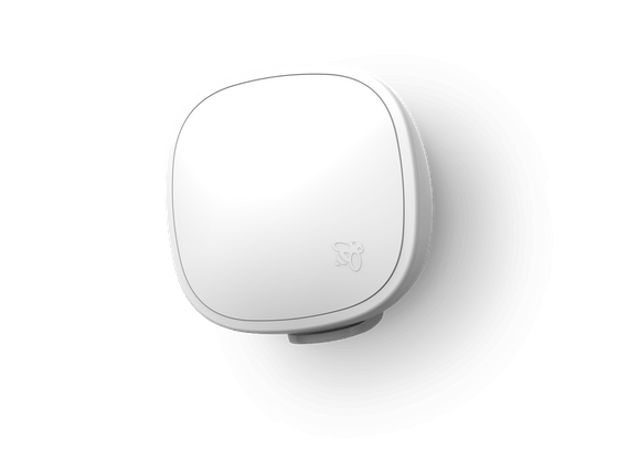 Front view of SmartSensor affixed with wall mount