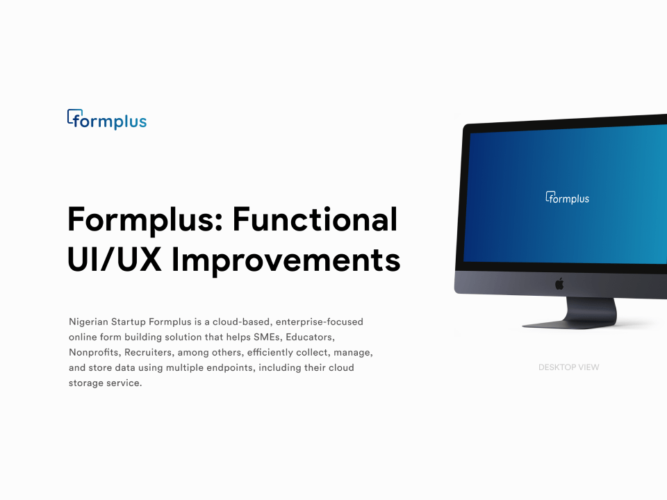 Formplus: Functional UI/UX Improvements - Featured image