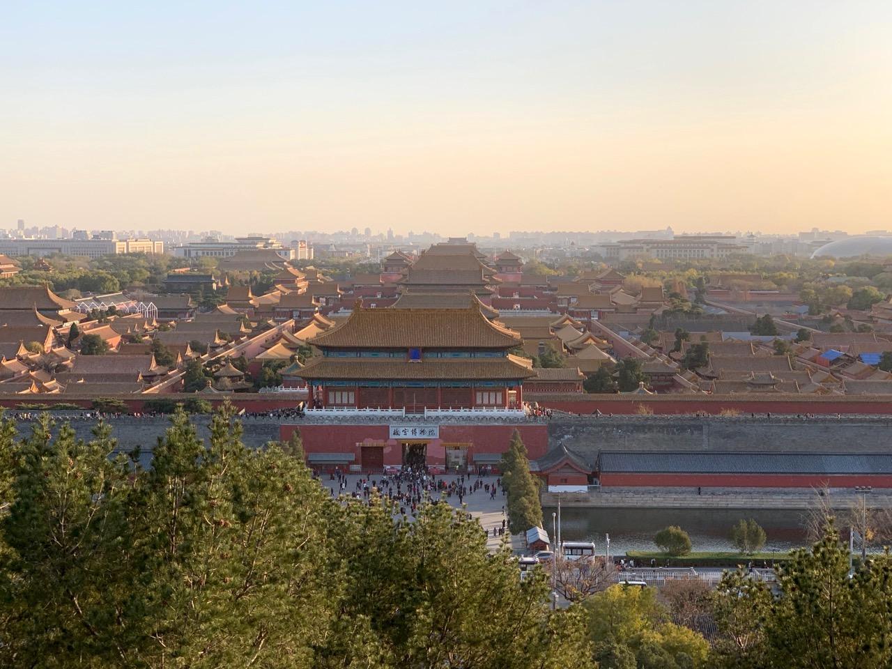 Uitzicht over de Verboden Stad van Jiangsha Park