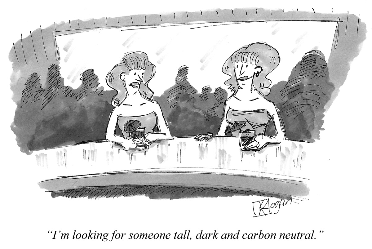 I'm looking for someone tall, dark and carbon neutral.