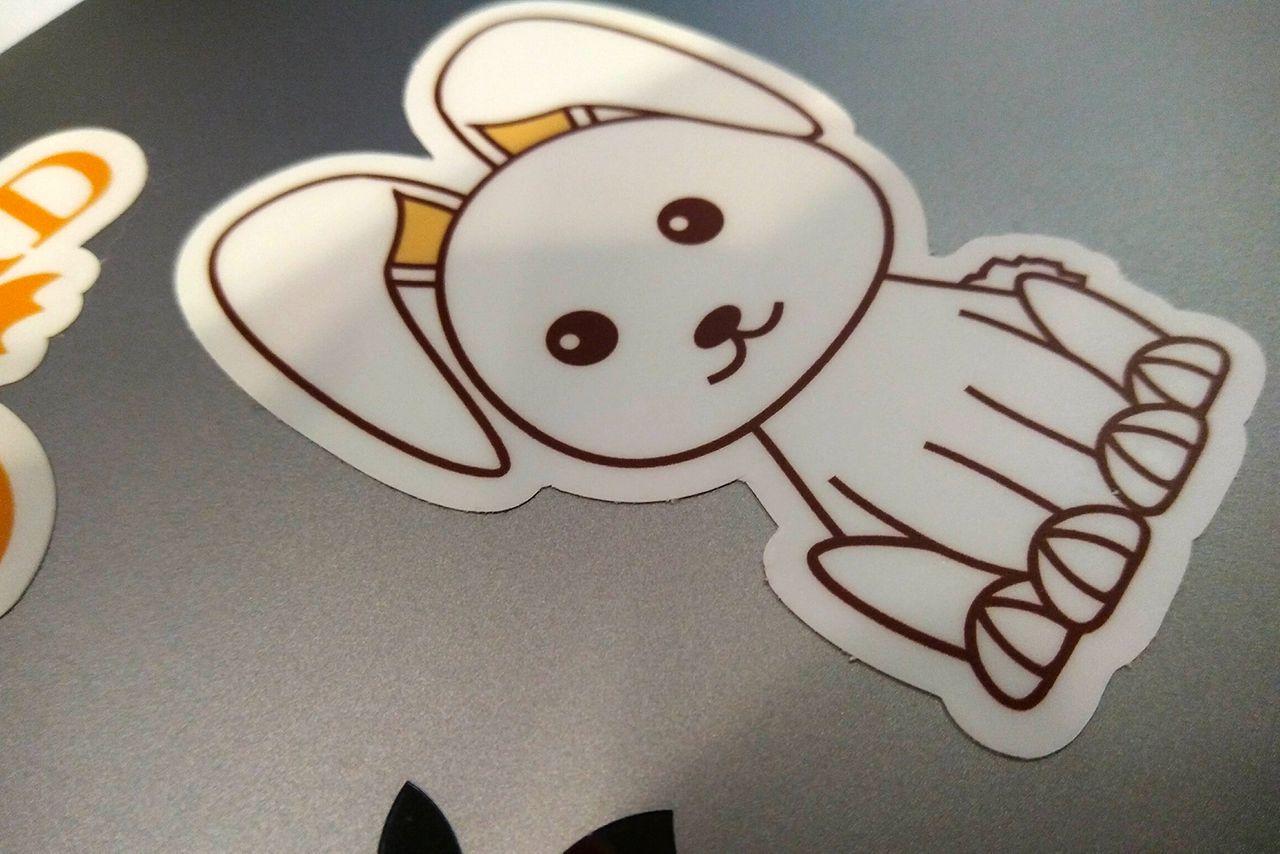 Houdini bunny sticker