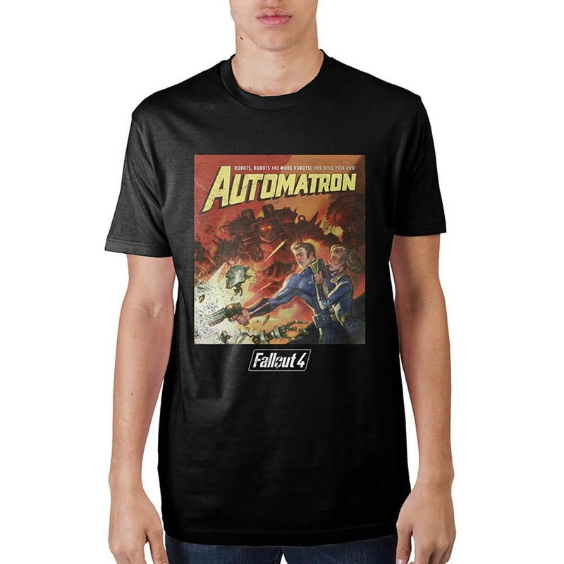 Fallout Automatron Black T-Shirt Wear