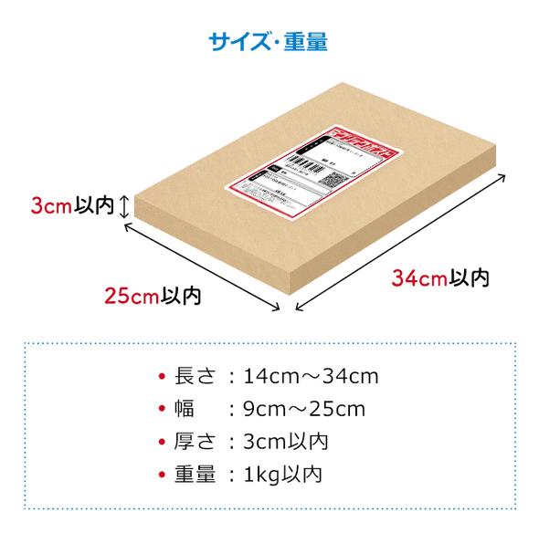 クリックポストサイズ重量