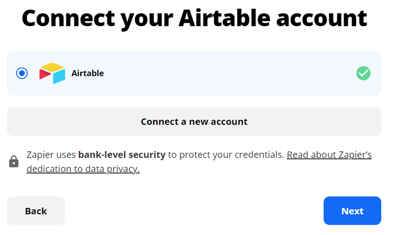 Sign in to your Airtable account