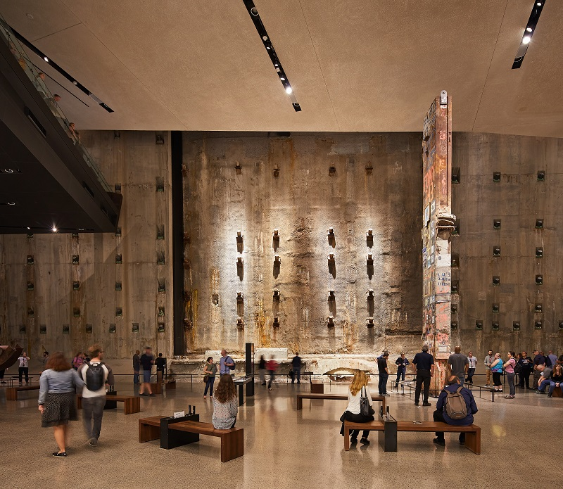 The wall that was retained at the new World Trade Centre site