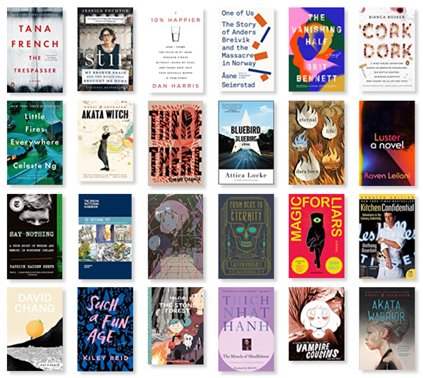 Collage of a bunch of book covers listed at the goodreads link