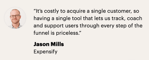 Intercom does a great job of building trust with a continuous stream of customer testimonials.