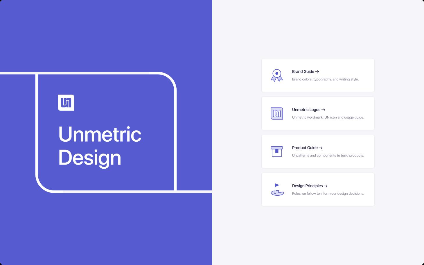 Unmetric design system sshot