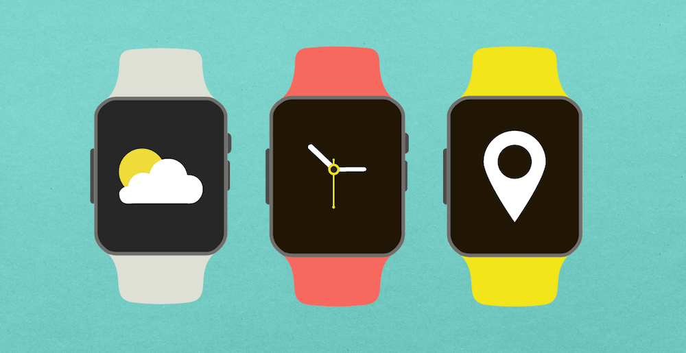 Smartwatches with various app functionalities