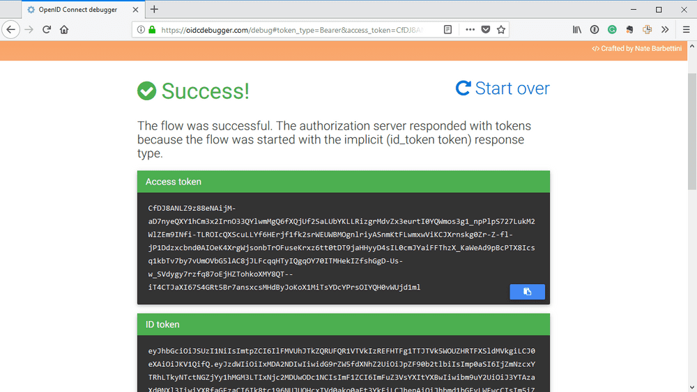 oidc debugger result
