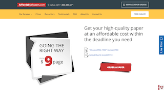 affordablepapers.com main page