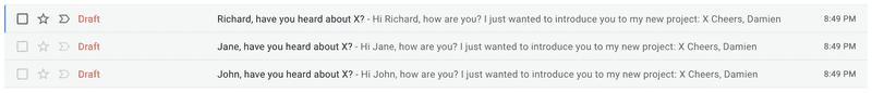 Gmail Drafts