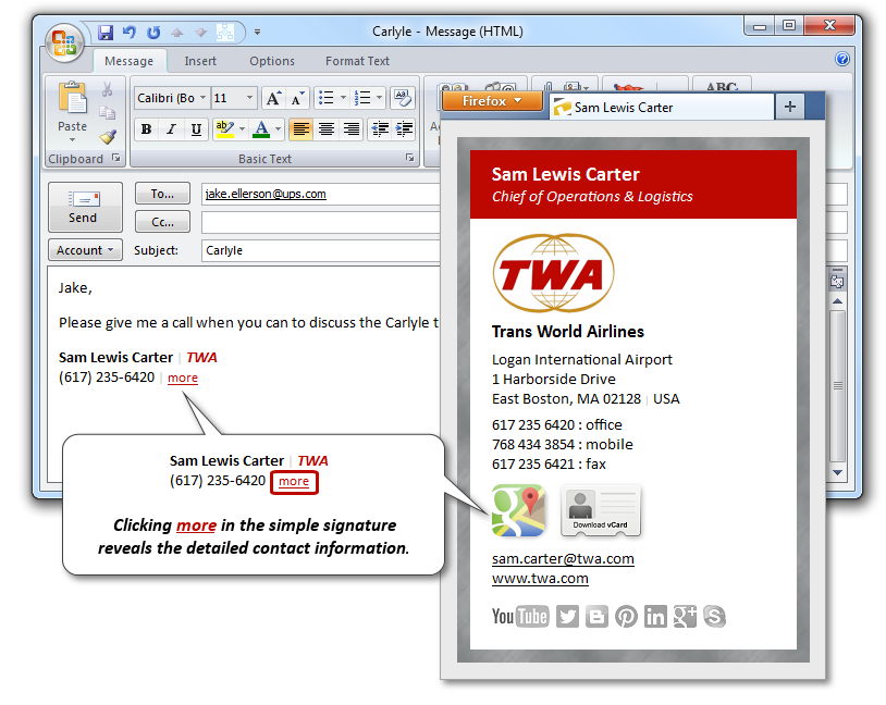 Two Tier TWA Email Signature for Business