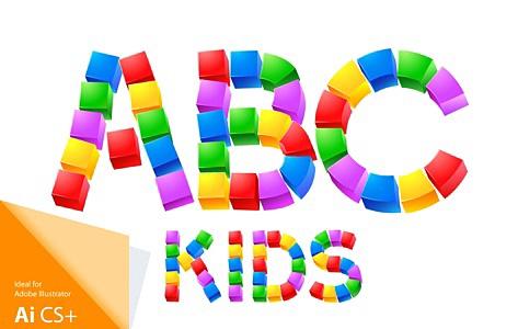 Alphabet of Kid's Blocks typefaces images/Cubes-kids_1.jpg