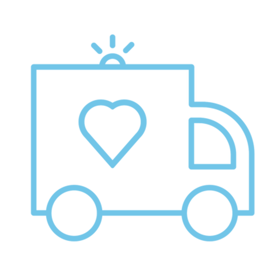 An icon of an ambulance