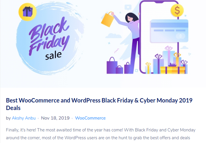 Black Friday blog ideas