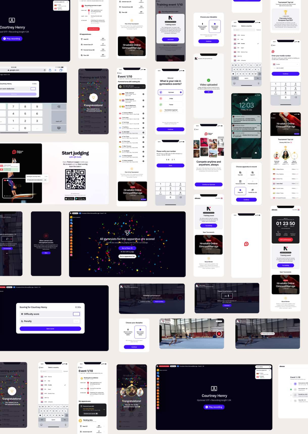 online gymnastics platform project image