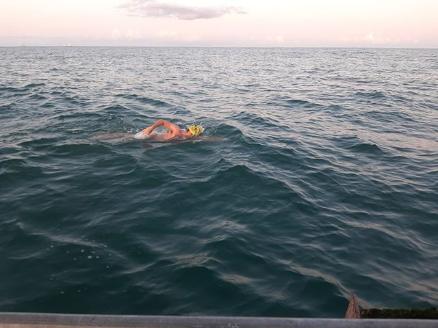 Man swimming in ocean