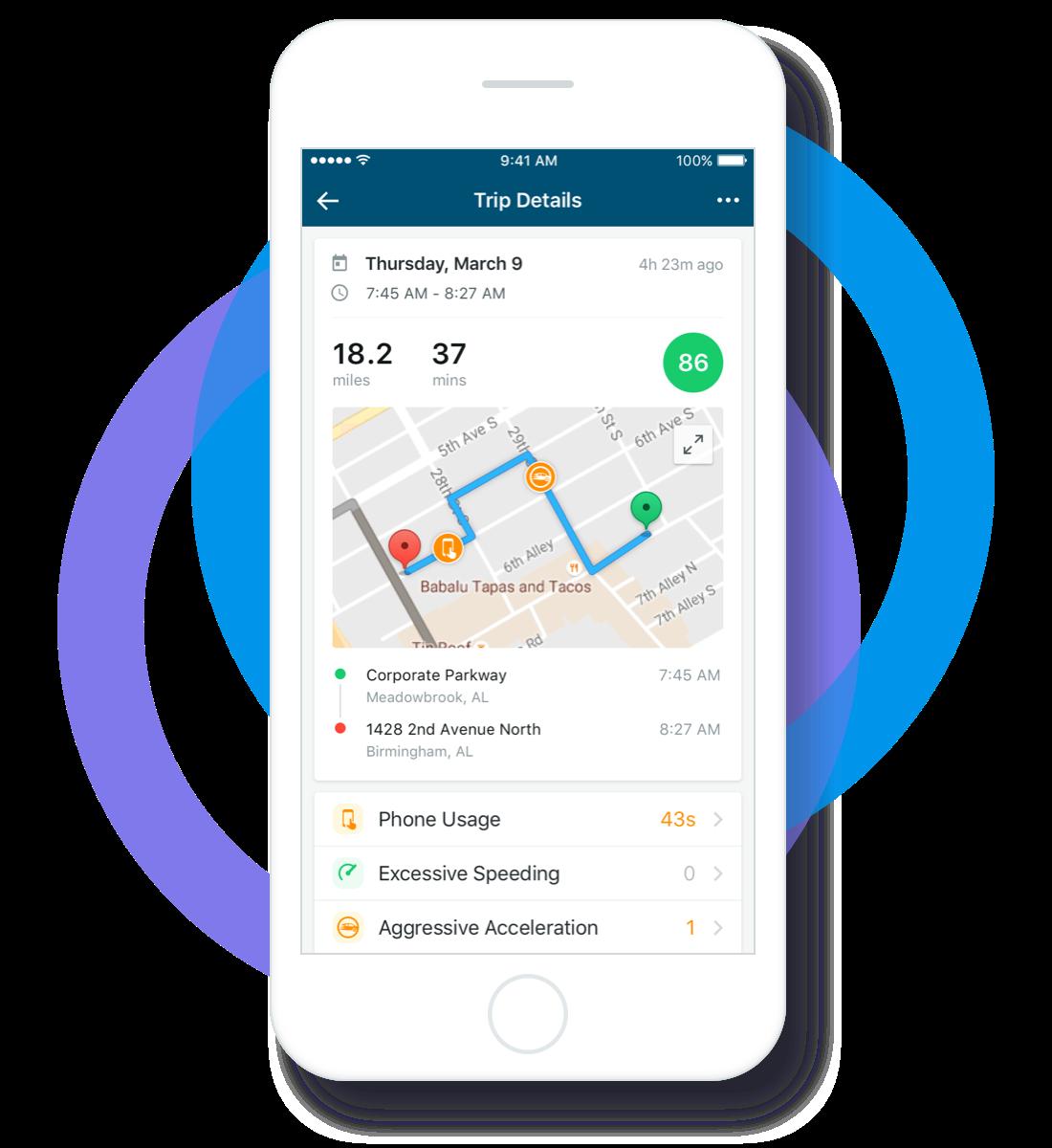 trip tracking app