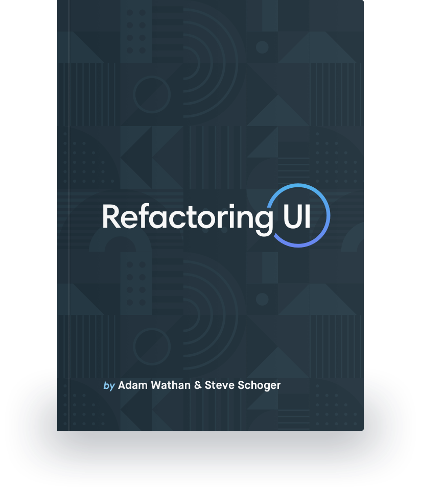 The Refactoring UI Book cover