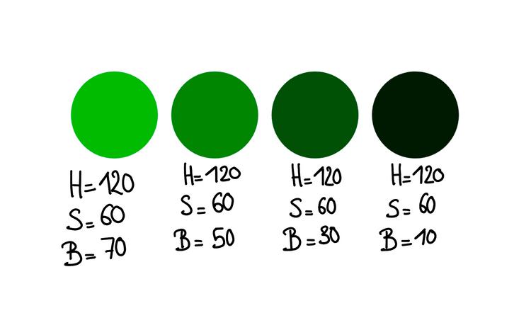Dark green variation too dark