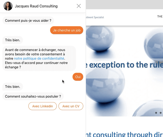 JRC chatbot CV or Linkedin