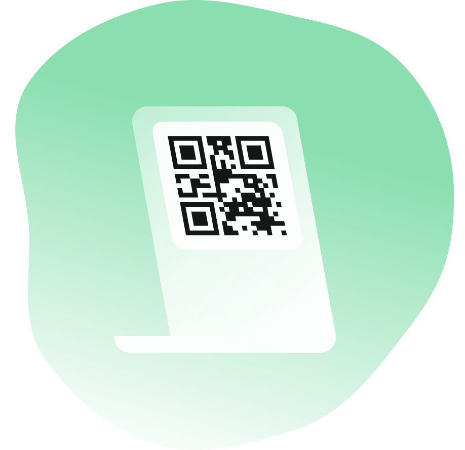 Distribute your unique QR code