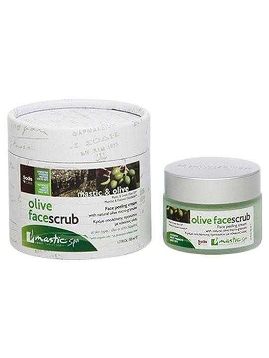 Face scrub with mastic and olive oil – 50ml