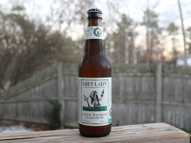 Grey Lady, a Belgian Wit brewed by Cisco Brewers