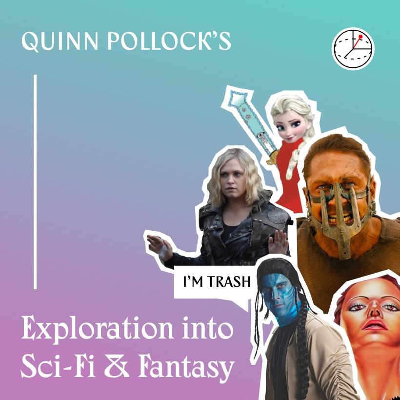 Album Art Saying Quinn Pollock's Exploration into Sci-fi & Fanatasy