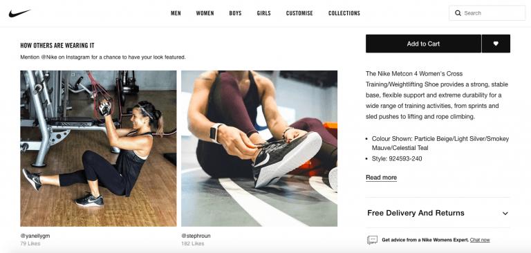 Nike customer testimonial