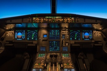 Airbus flight deck