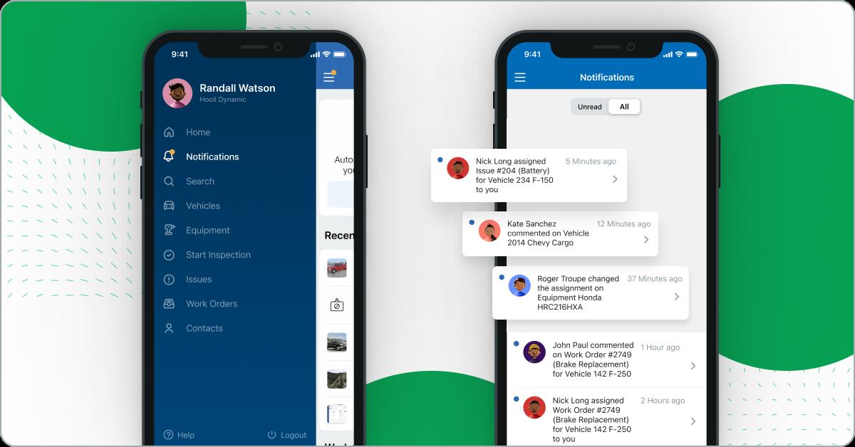 mobile notification center