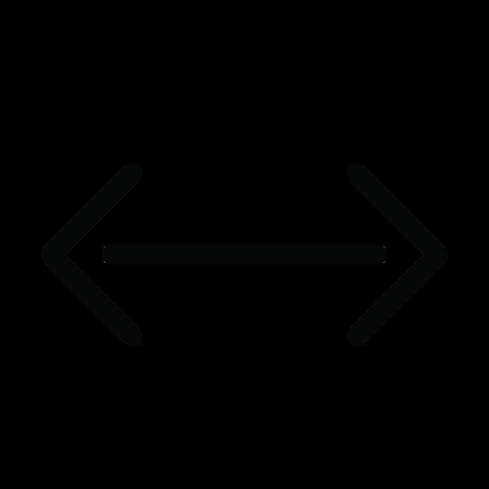 Arrow double end horizontal