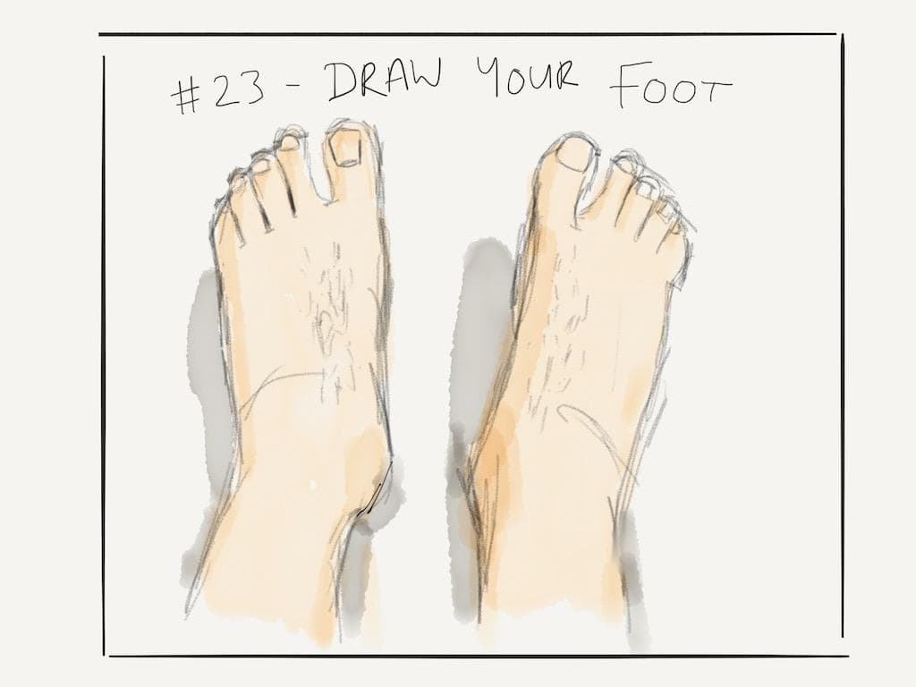 EDM #23 Draw your foot