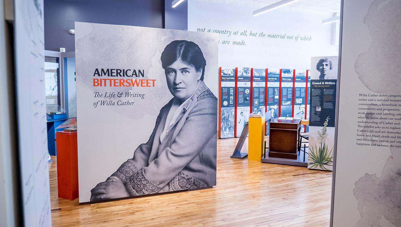 Willa Cather Exhibit entrance