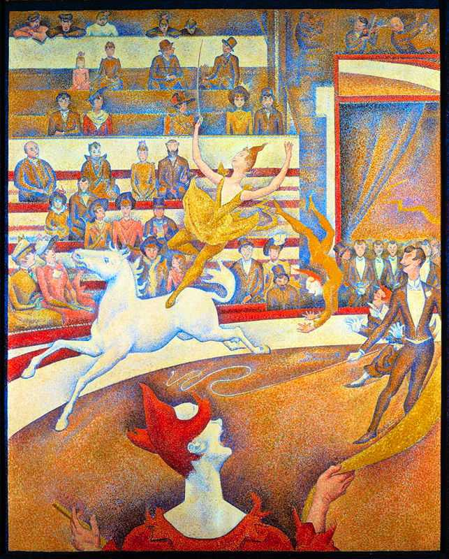 'The Circus' by Seurat, 1891, Musée d'Orsay, Paris