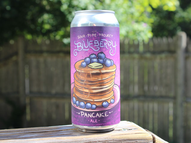 The Sour Pipe Project's Blueberry Pancake Ale brewed by Vitamin Sea Brewing