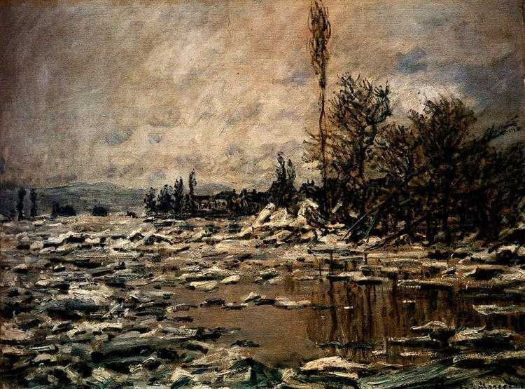 The Break-up of the Ice by Claude Monet in 1880, rejected by the judging panel at the Salon