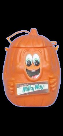 Milky Way Pumpkin Candy Pail photo