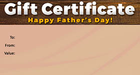 Gift Certificate Father's Day 03