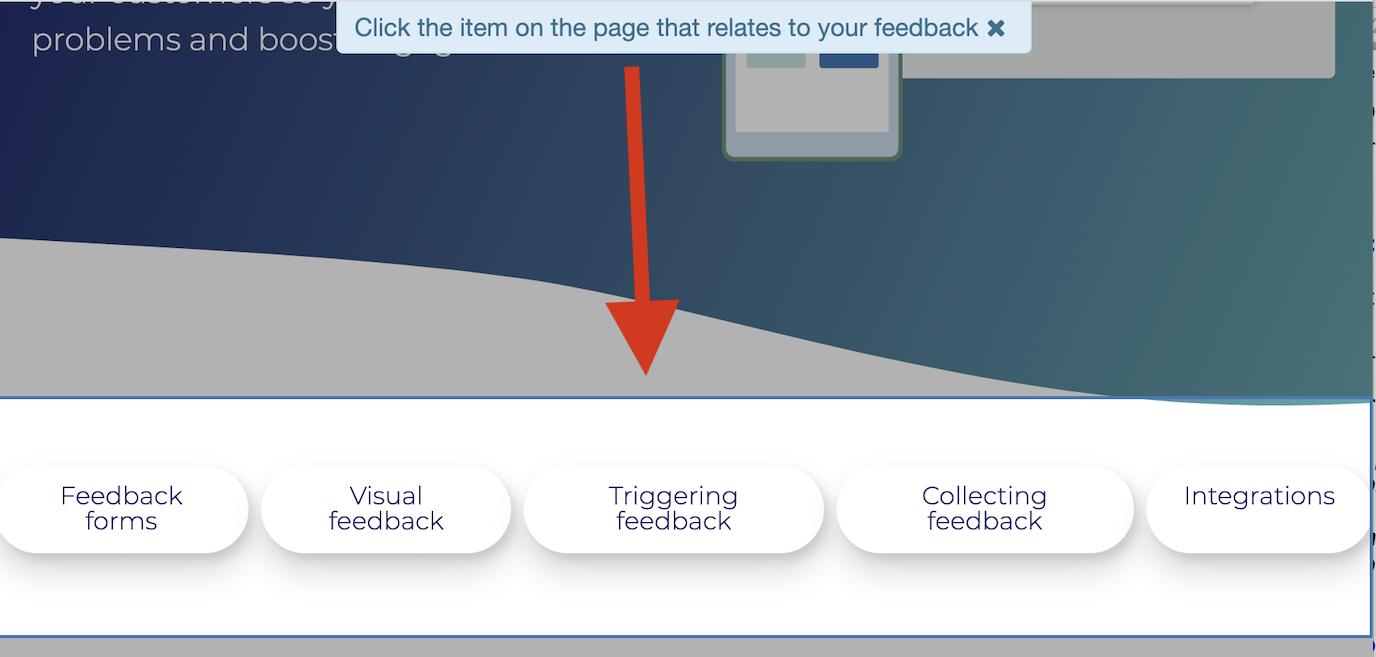 Saber Feedback screenshot functionality add item