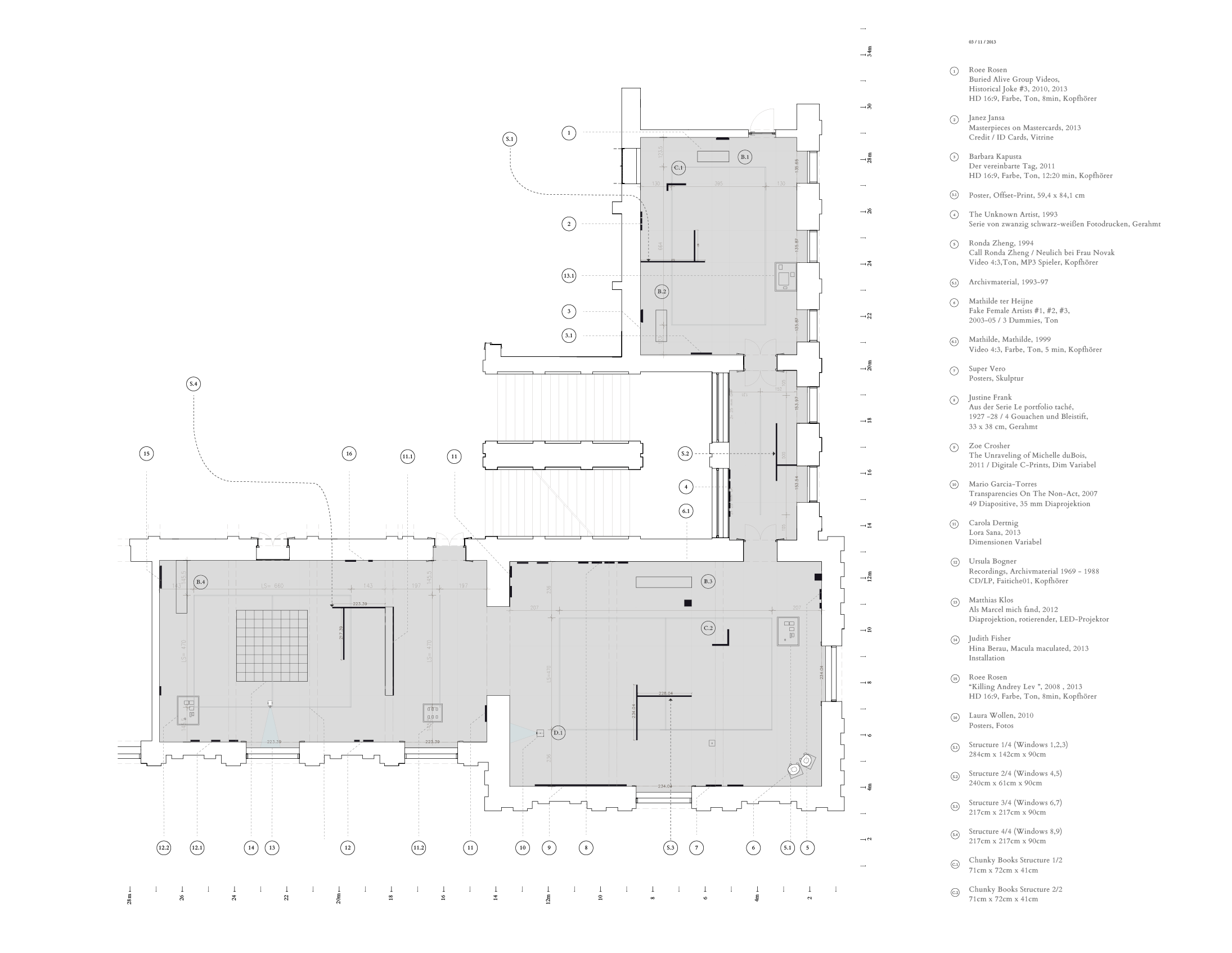 Exhibition Spatial Layout / Plan Drawing