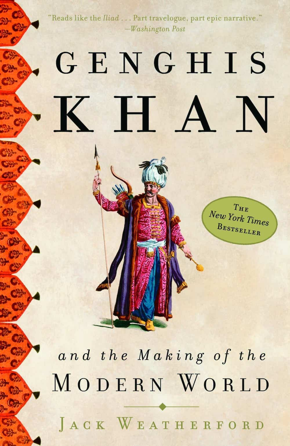 The cover of Genghis Khan and the Making of the Modern World