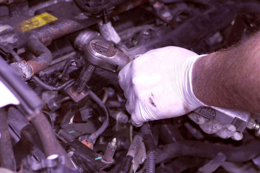 Car mechanic after an accident